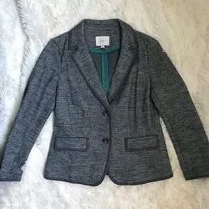 Loft texture knit blazer